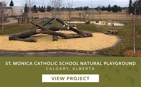 St Monica - Catholic School Edmonton Alberta Playgound Landscape